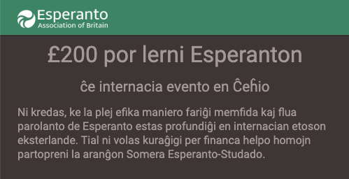 Support to attend an Esperanto event abroad | Subvencio por partopreni esperantan eventon eksterlandan