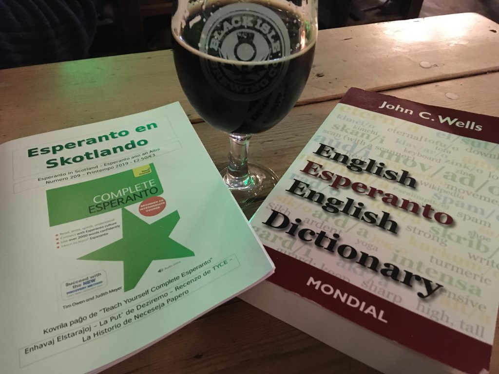 Esperanto publications and beer
